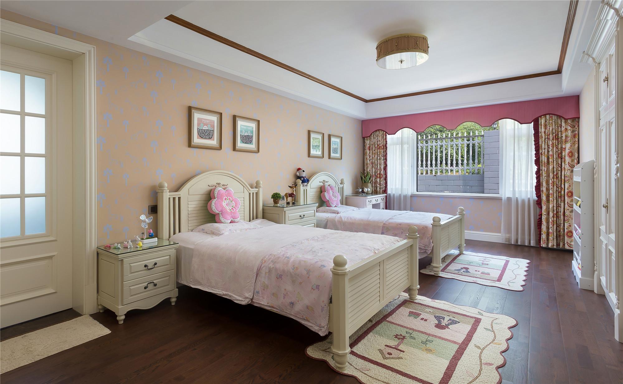 美式混搭别墅装修儿童房效果图