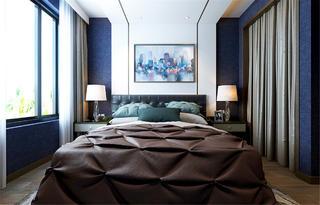 90㎡简约风格家床头背景墙图片