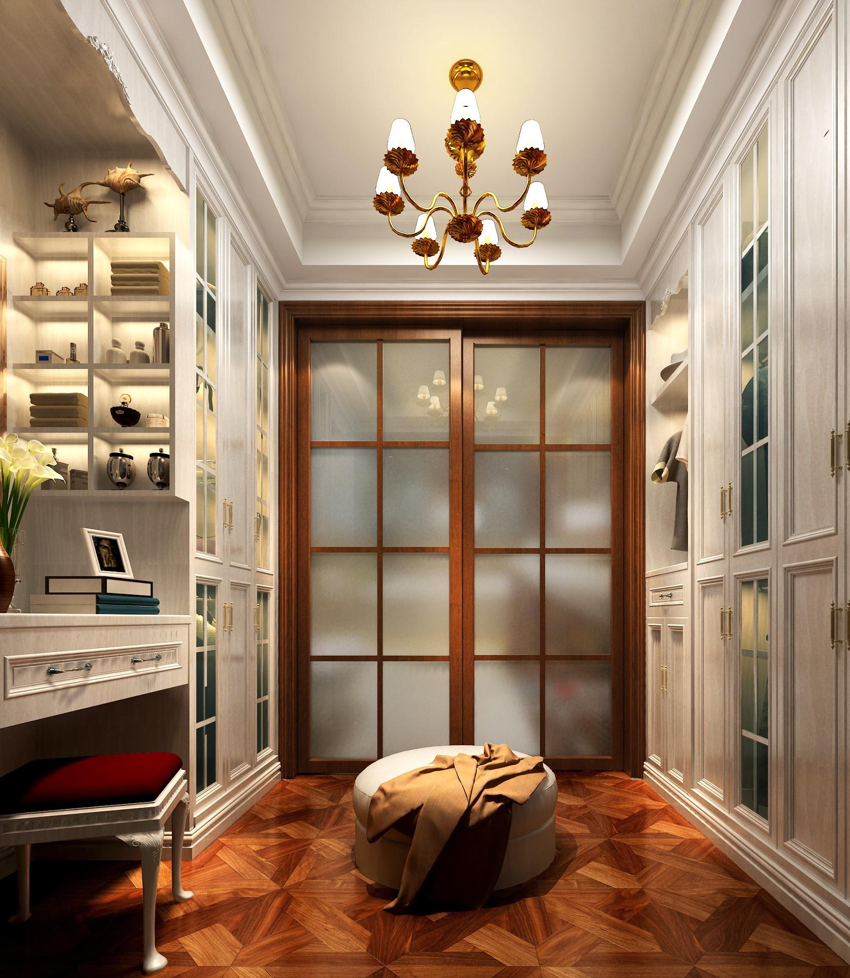 欧式风格别墅富裕型140平米以上衣帽间设计图纸