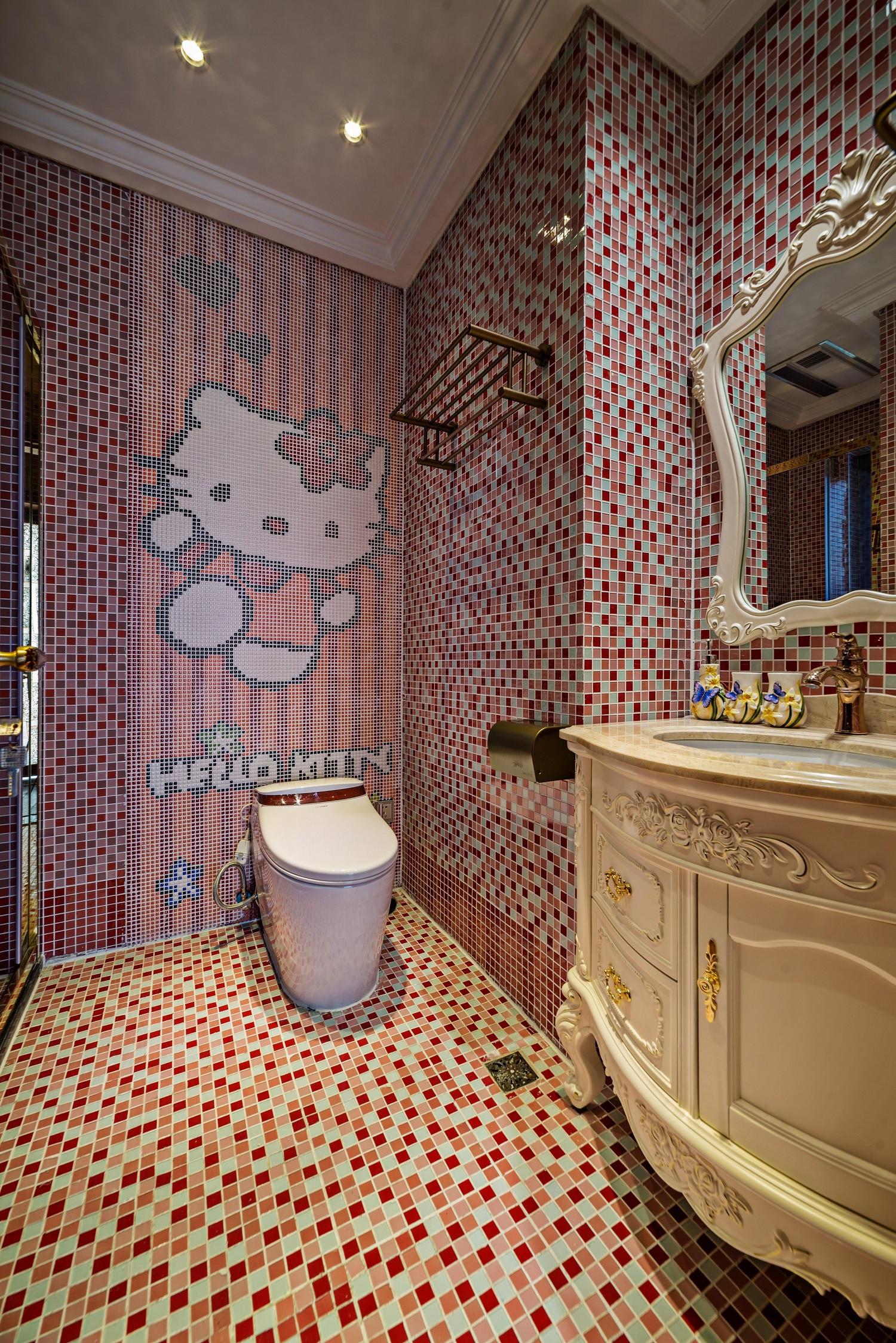 美式古典别墅装修卫生间装潢图