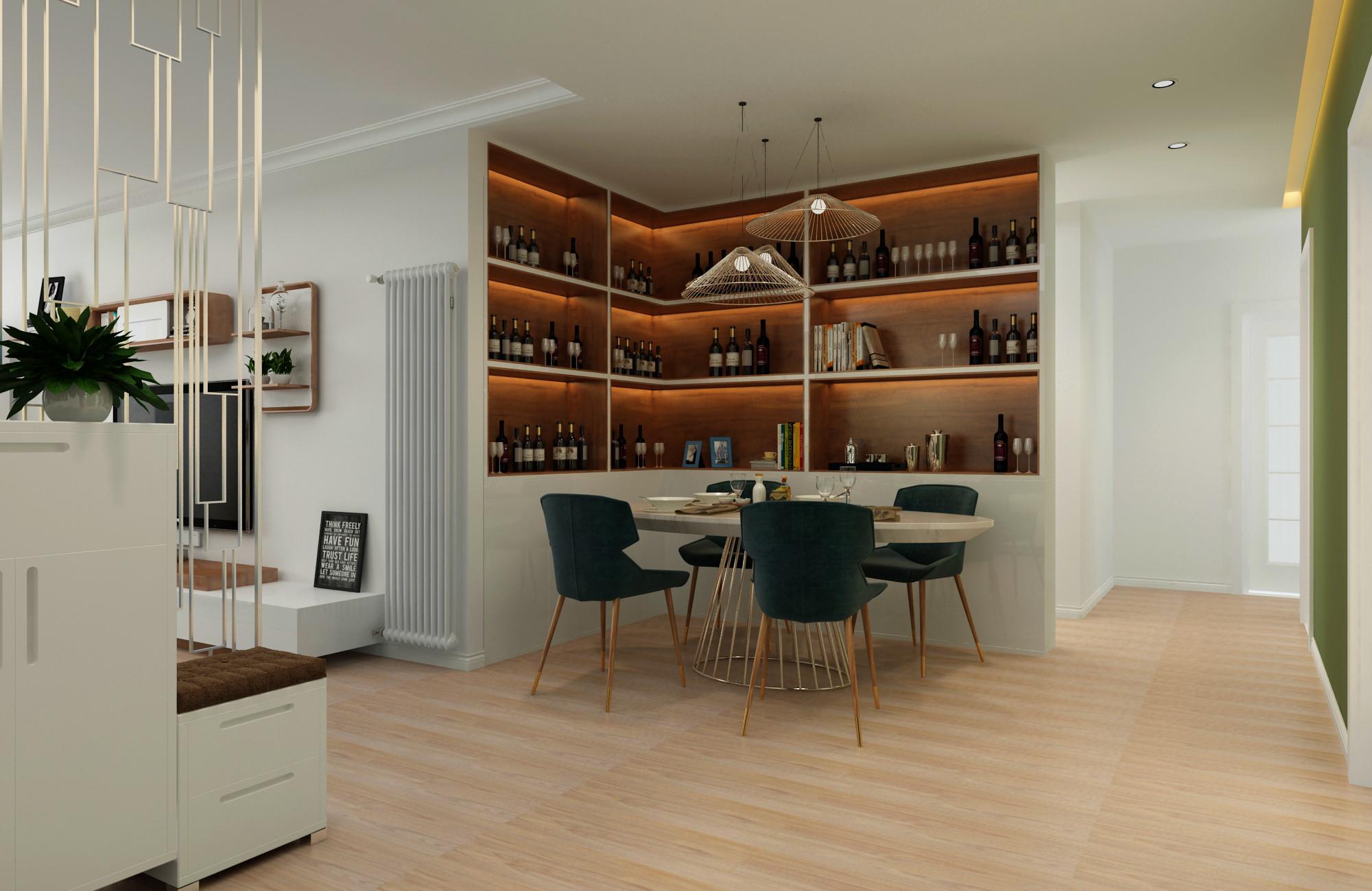 三居室现代简约之家餐厅设计图