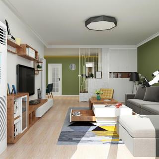 三居室现代简约之家 绿野仙居