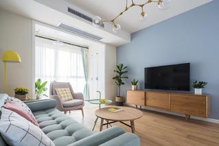 北欧三居室装修电视柜图片