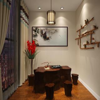 现代简约时尚装修茶室设计图