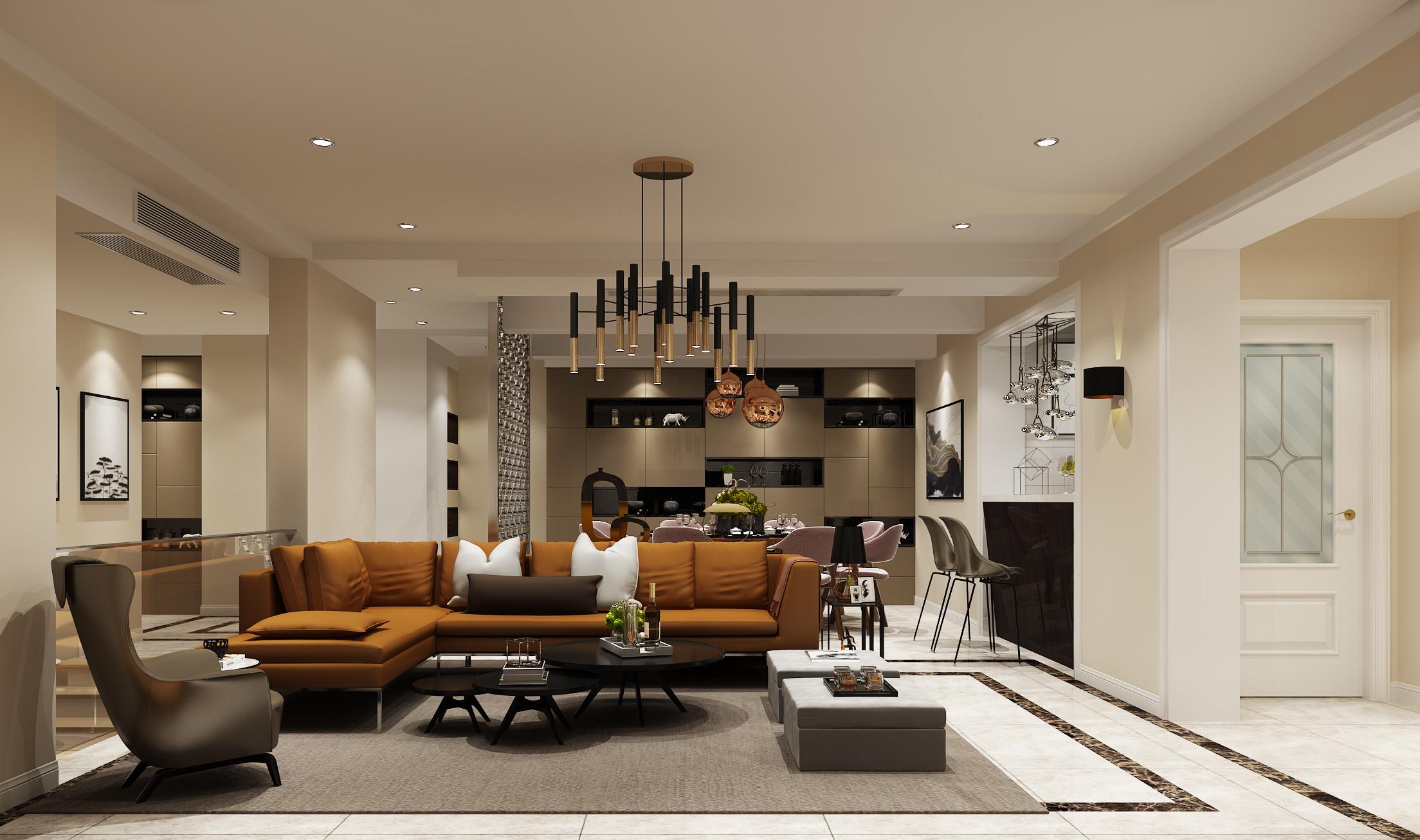 现代简约时尚装修客厅设计效果图