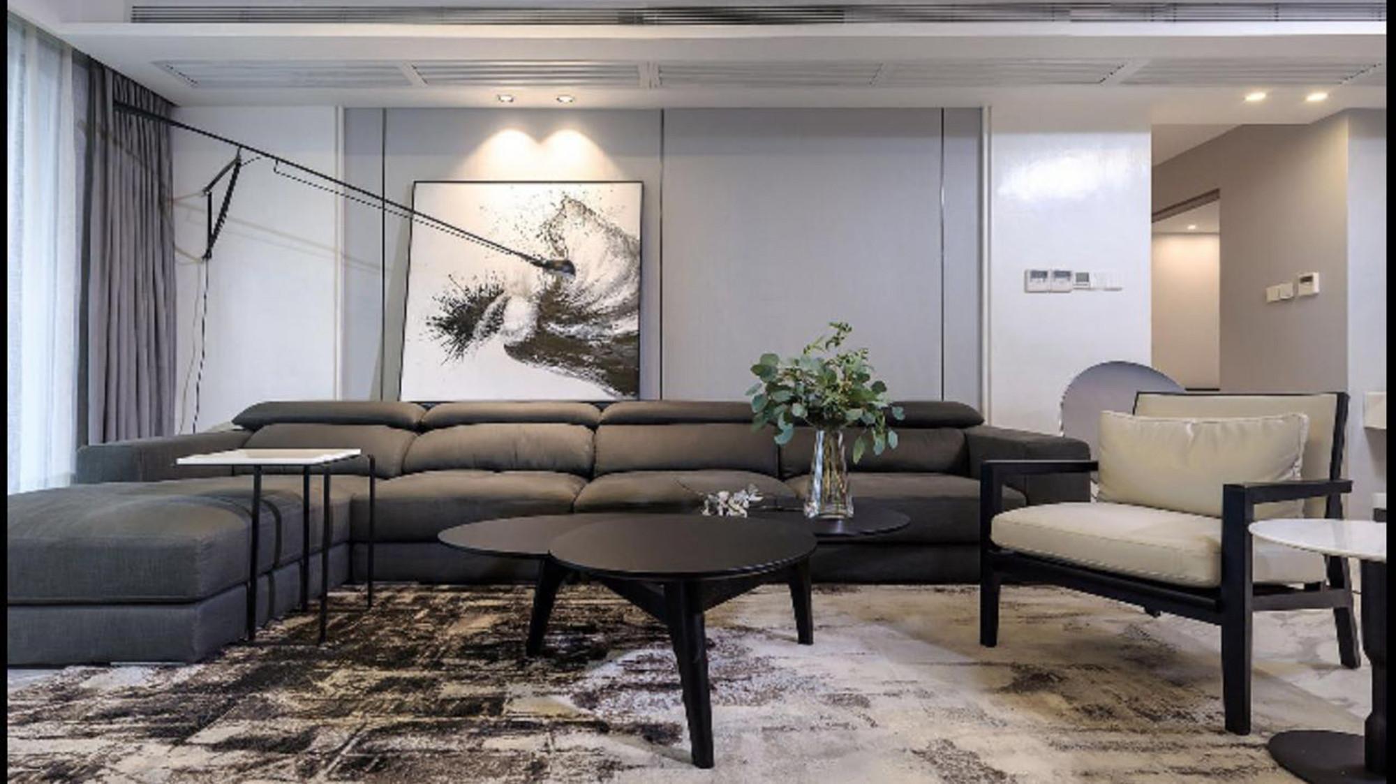 舒适极简空间装修沙发茶几图片