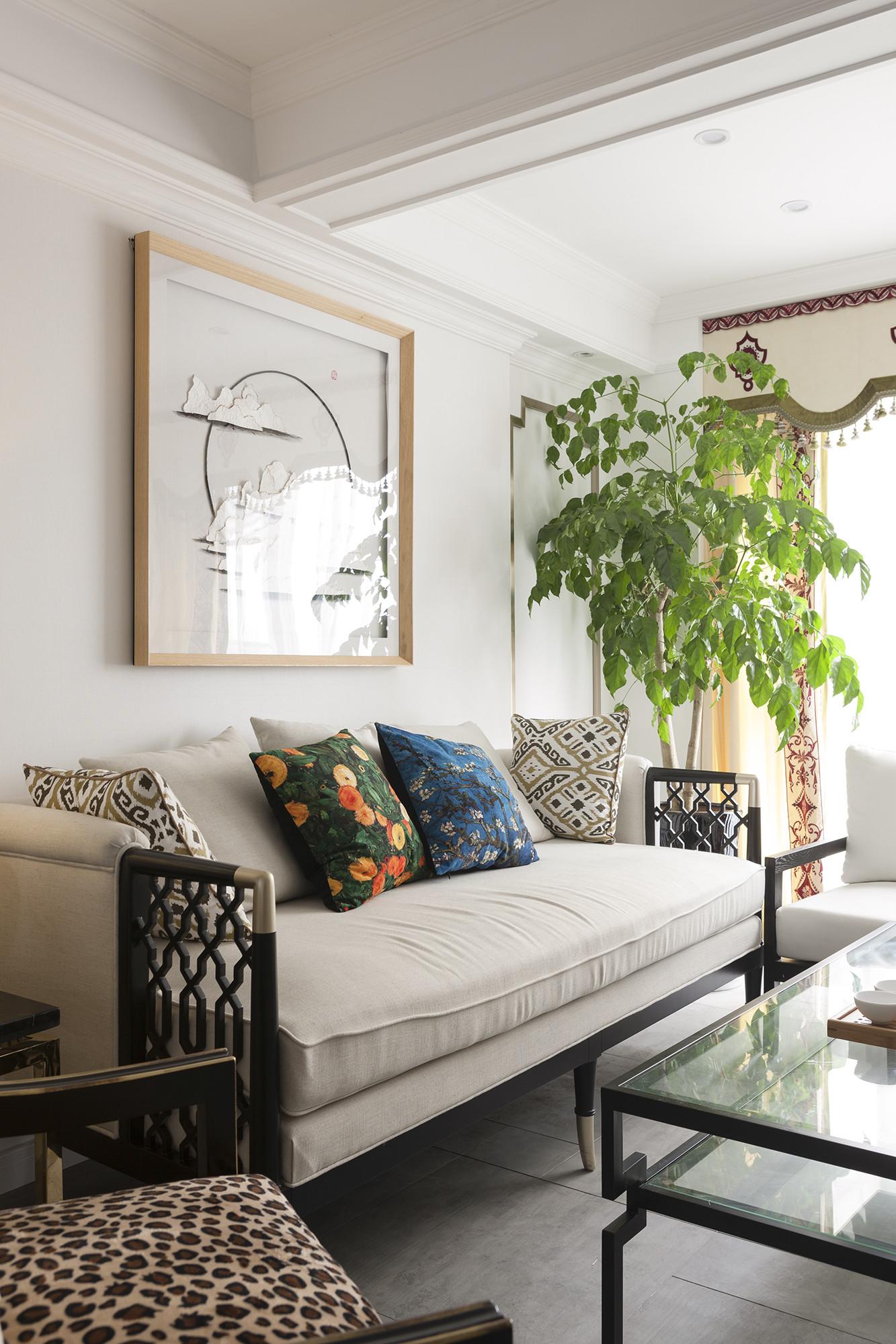 中式二居装修沙发图片