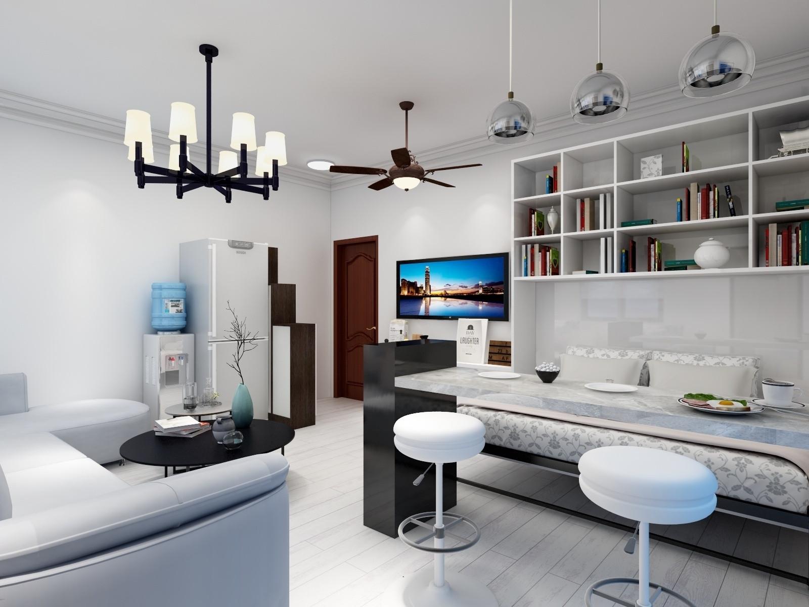 一居室小户型装修客餐厅设计图
