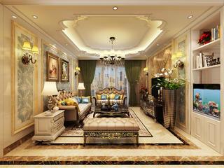 120平欧式装修客厅效果图