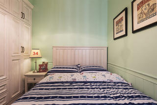 三居室美式空间儿童房装潢图