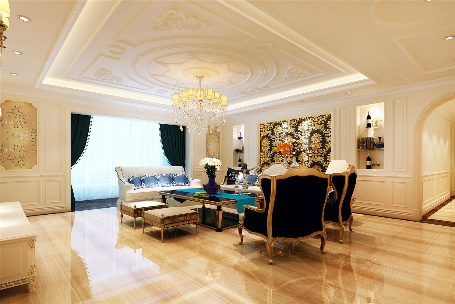 290平法式装修客厅效果图