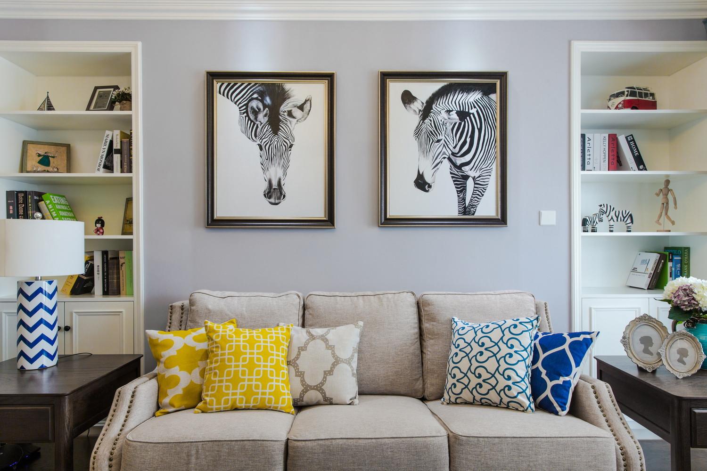 130平美式装修装饰画图片