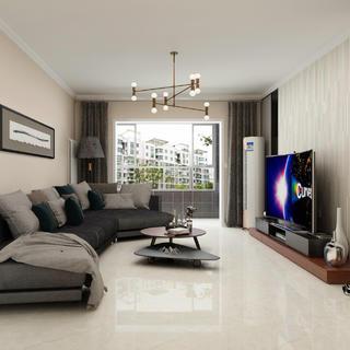 三居室现代简约设计 简净其华