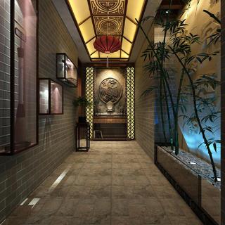 中式优雅休闲茶室装修效果图