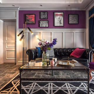 二居室美式装修设计 紫嫣蓦然
