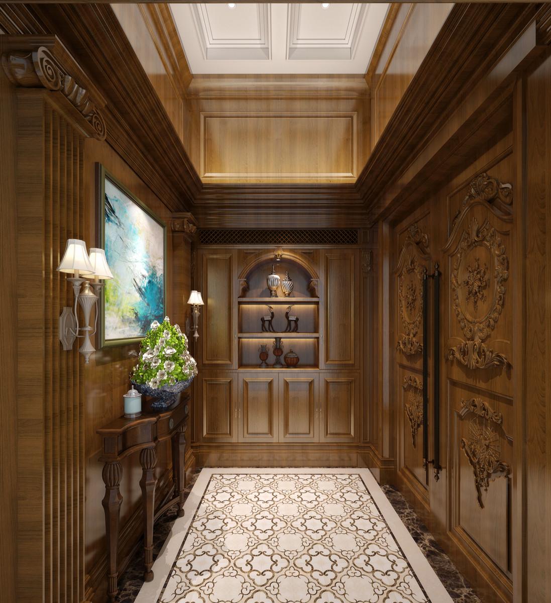 美式别墅装修门厅装潢图