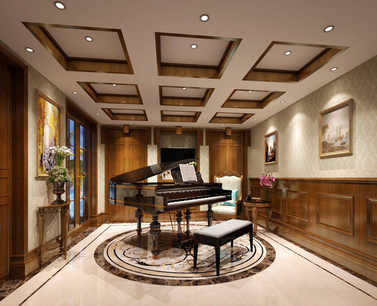 美式别墅装修钢琴房欣赏图