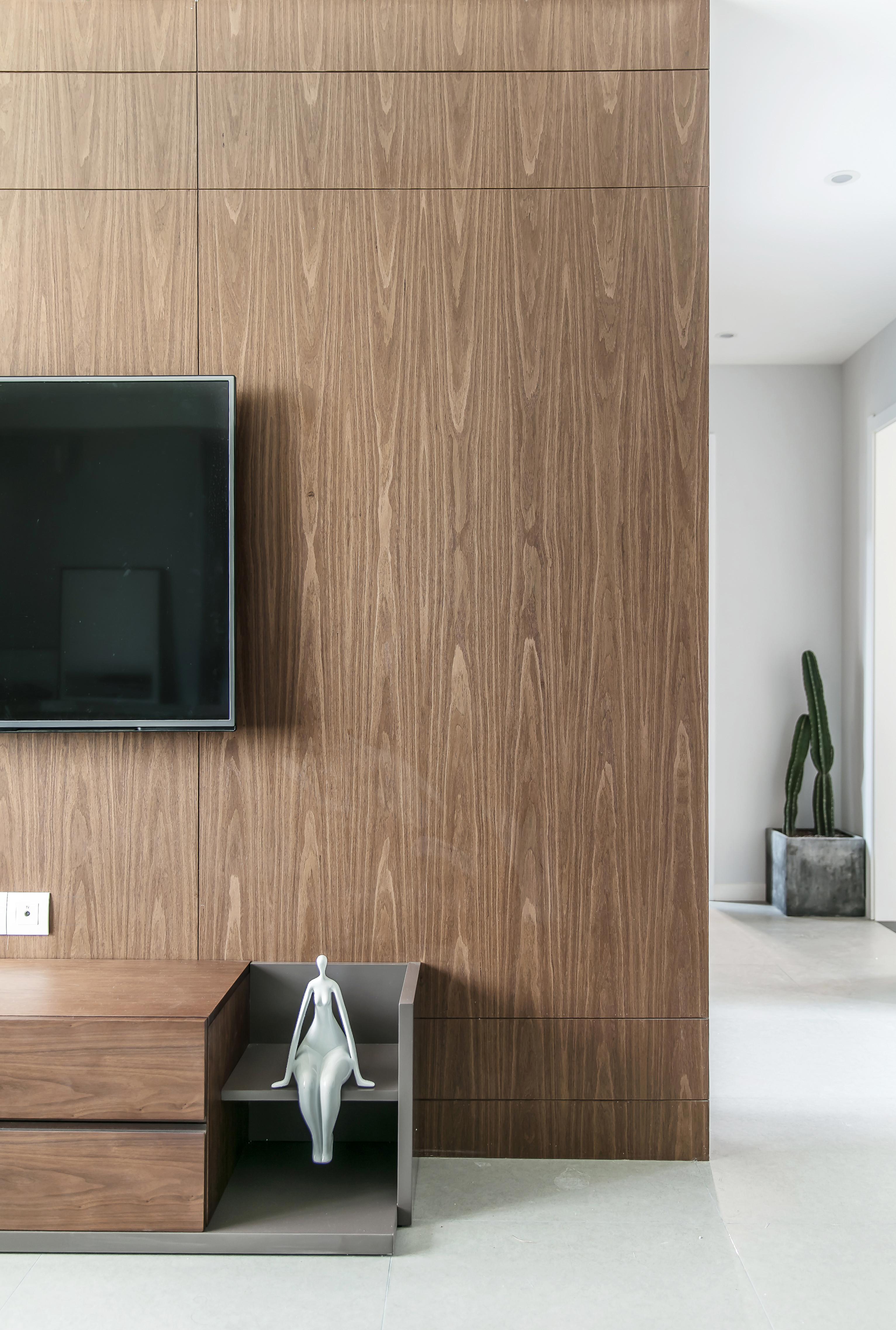 90平简约装修电视背景墙图片