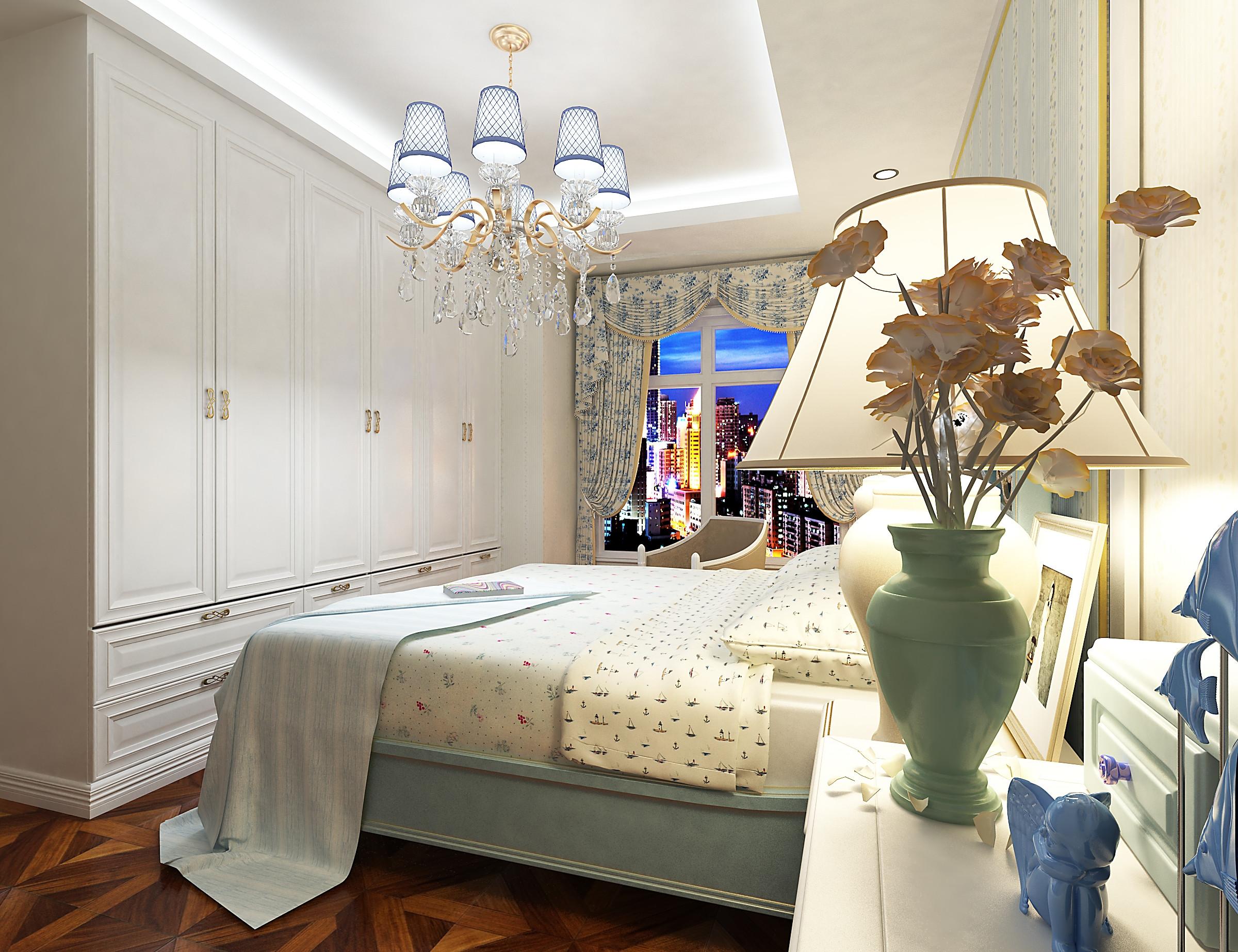120㎡地中海风格装修卧室效果图