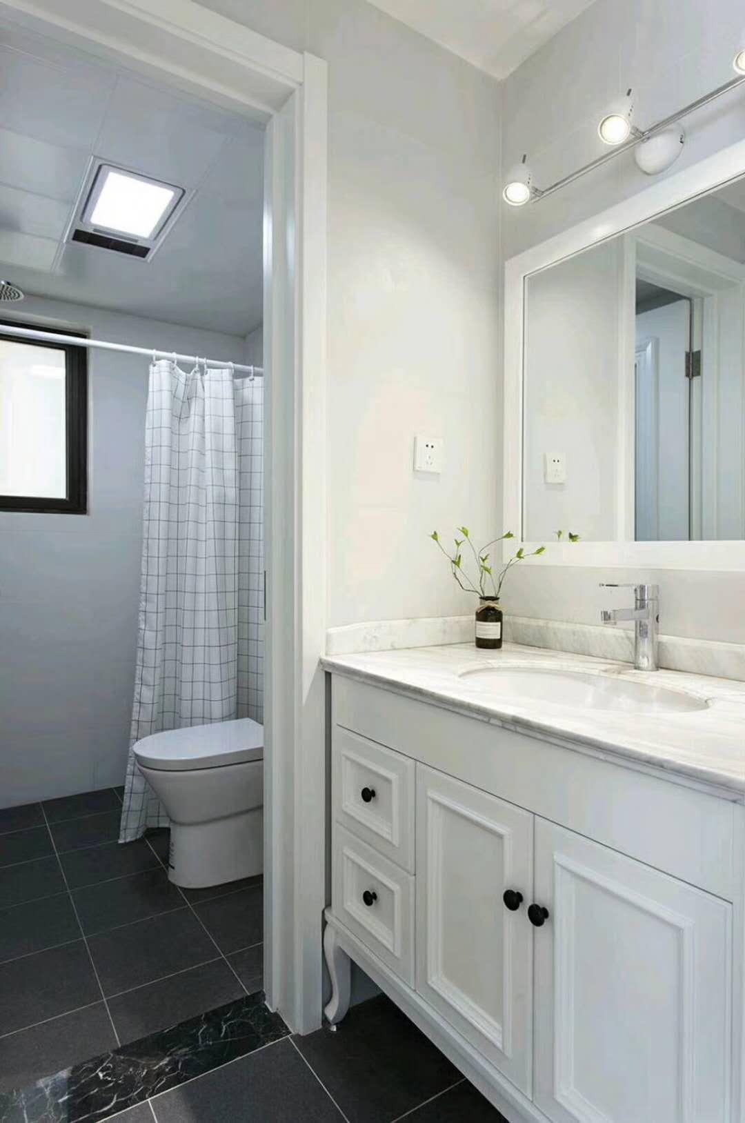 北欧二居室装修卫生间设计图