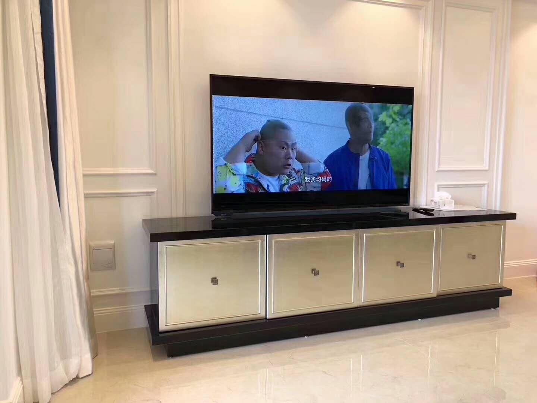 低调奢华简约风装修电视柜图片