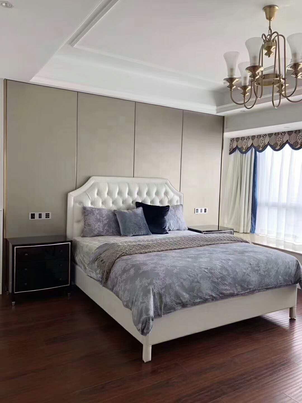 低调奢华简约风装修床头背景墙图片