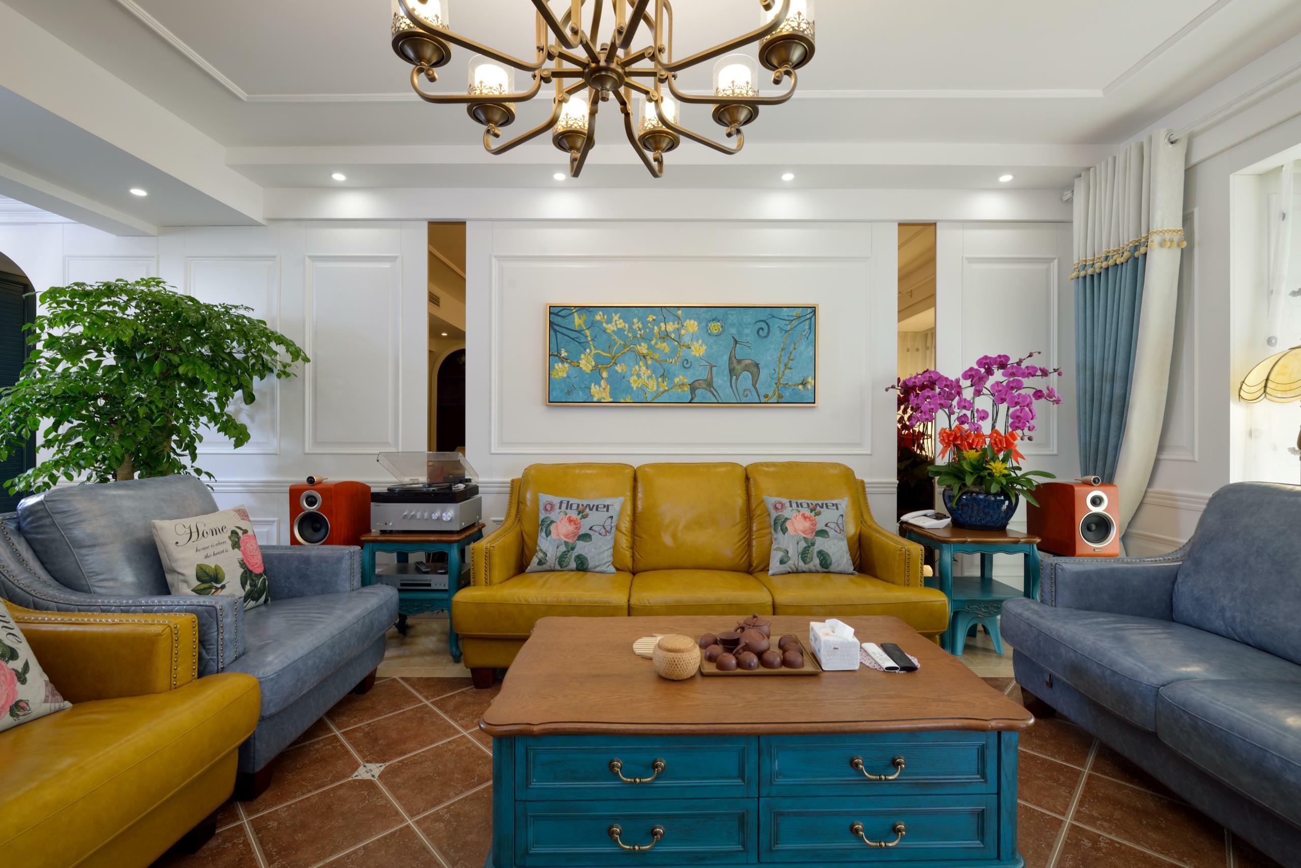美式四房装修客厅效果图