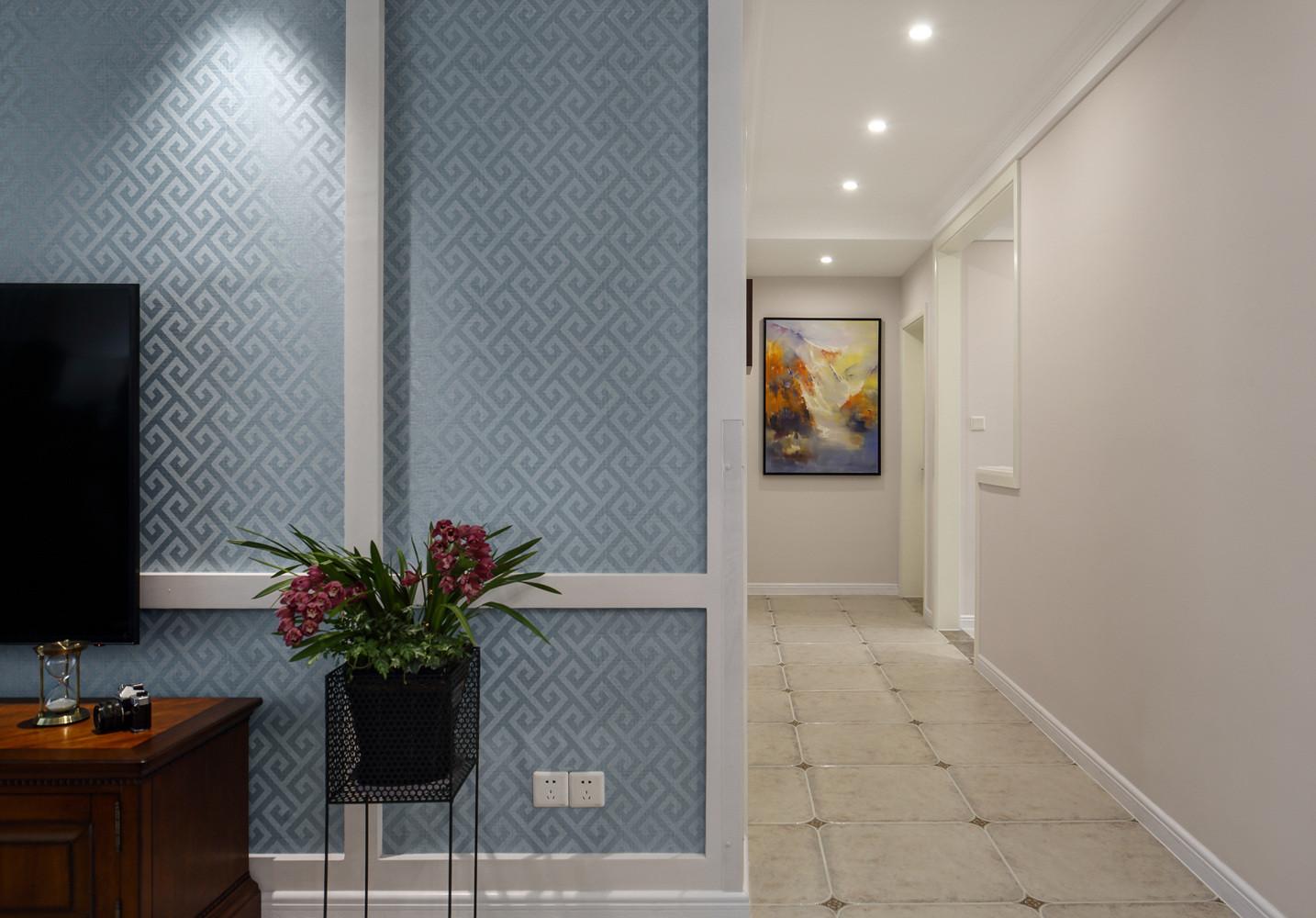 美式三居装修走廊图片