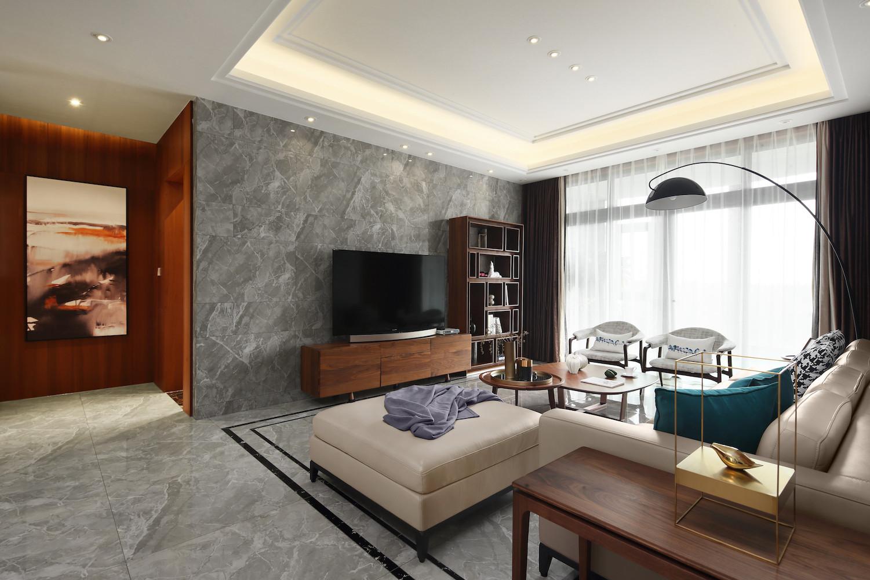 大户型现代风格设计电视背景墙图片