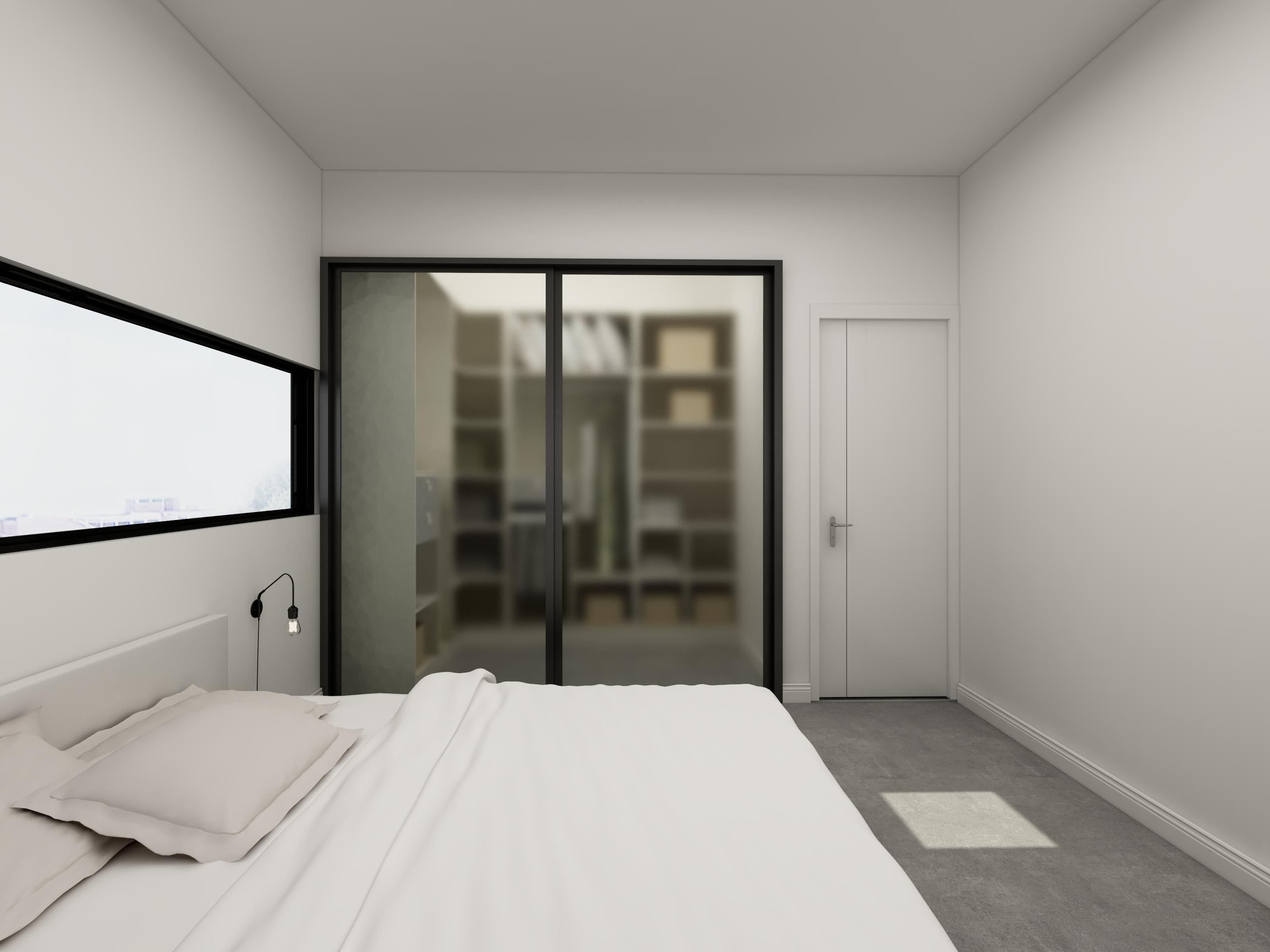 极简三居装修卧室衣帽间设计