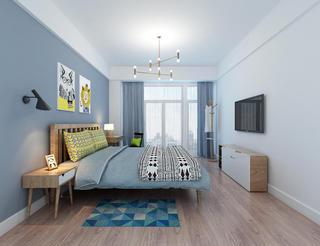 130㎡北欧风格家卧室效果图