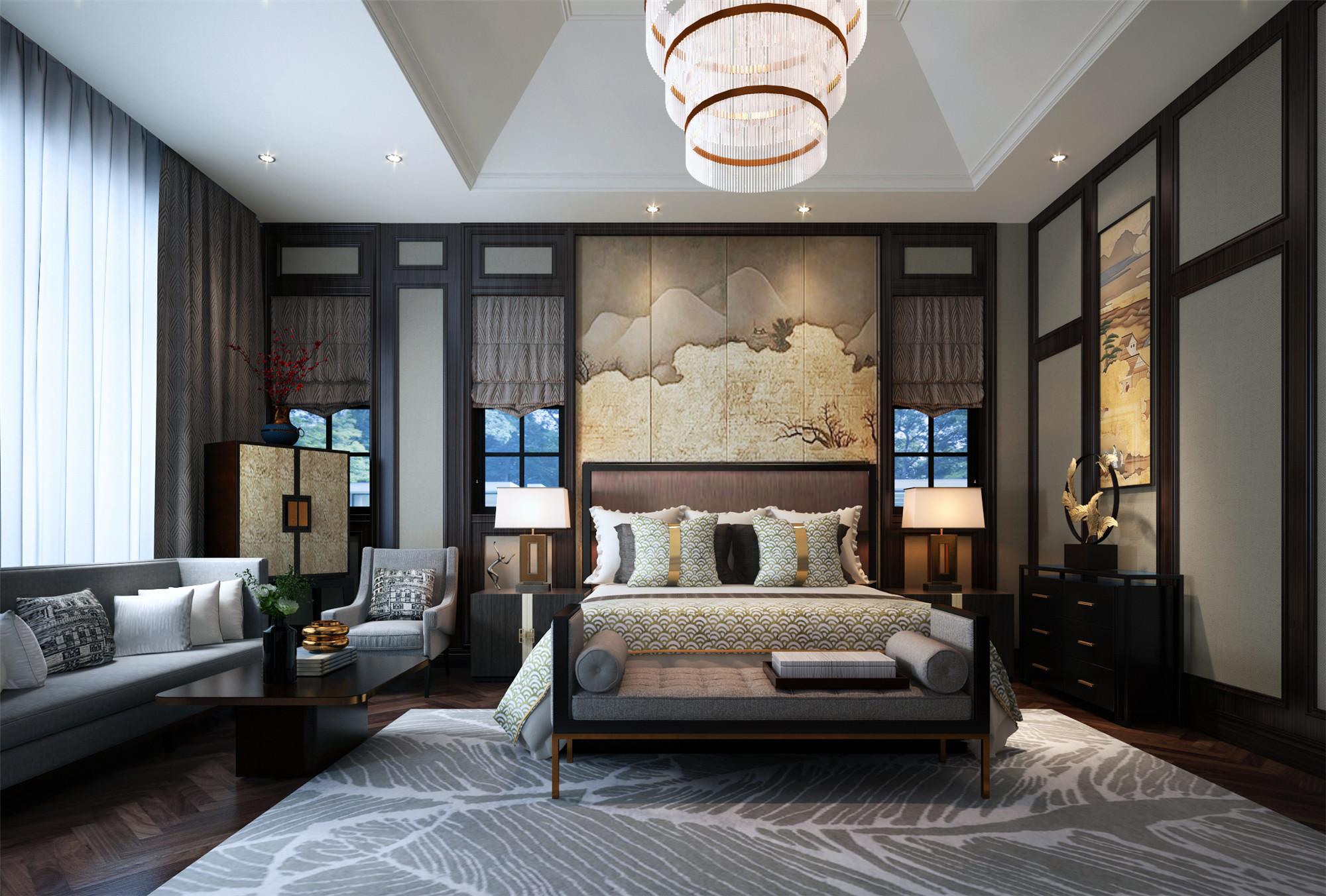 豪华中式卧室设计图