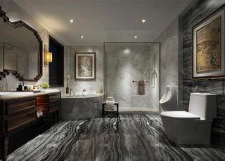 豪华中式设计卫生间装潢图