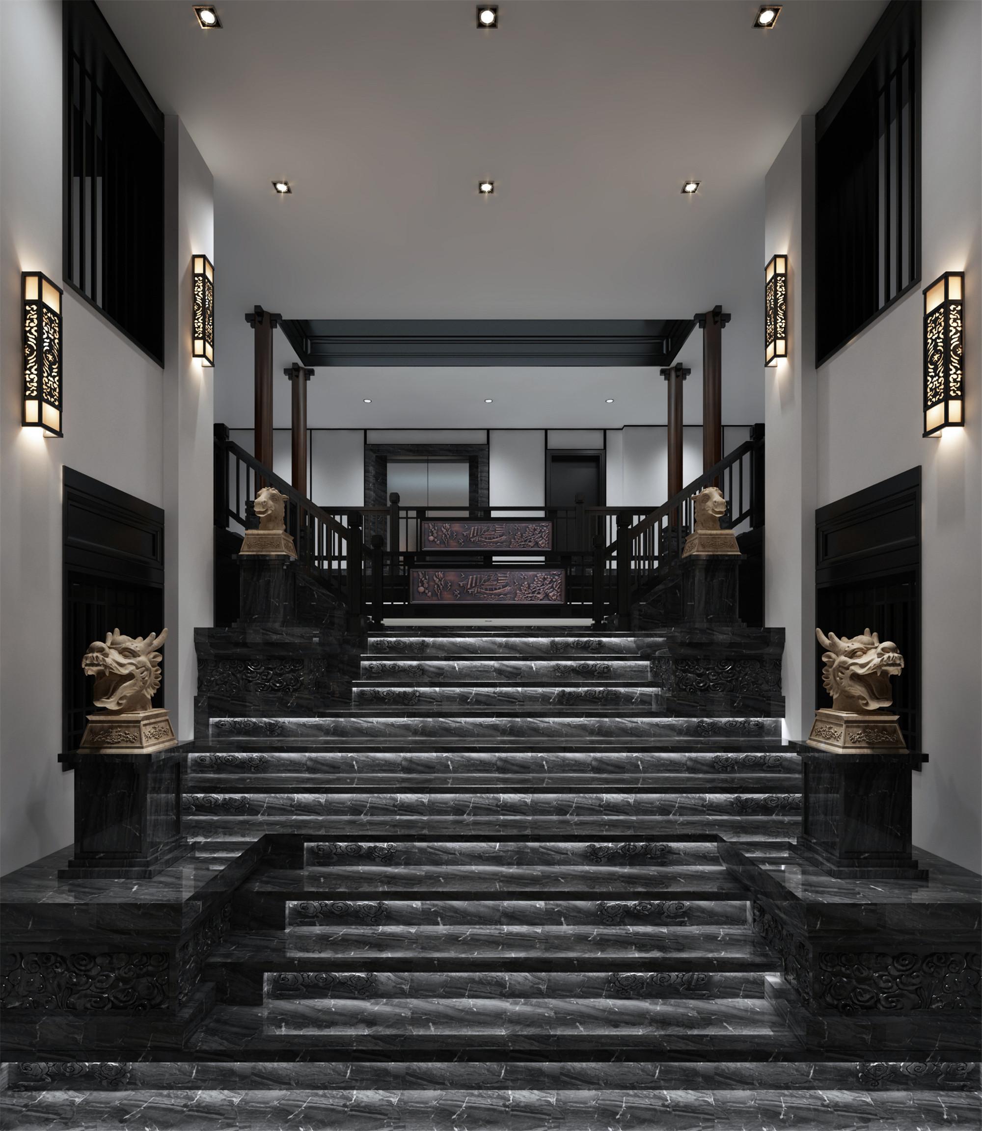 中式别墅装修楼梯图片
