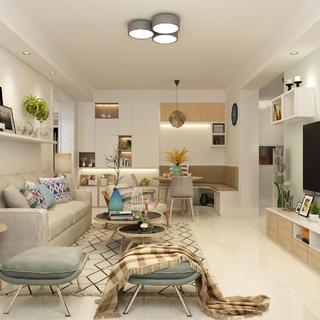 北欧二居装修设计 时尚温馨