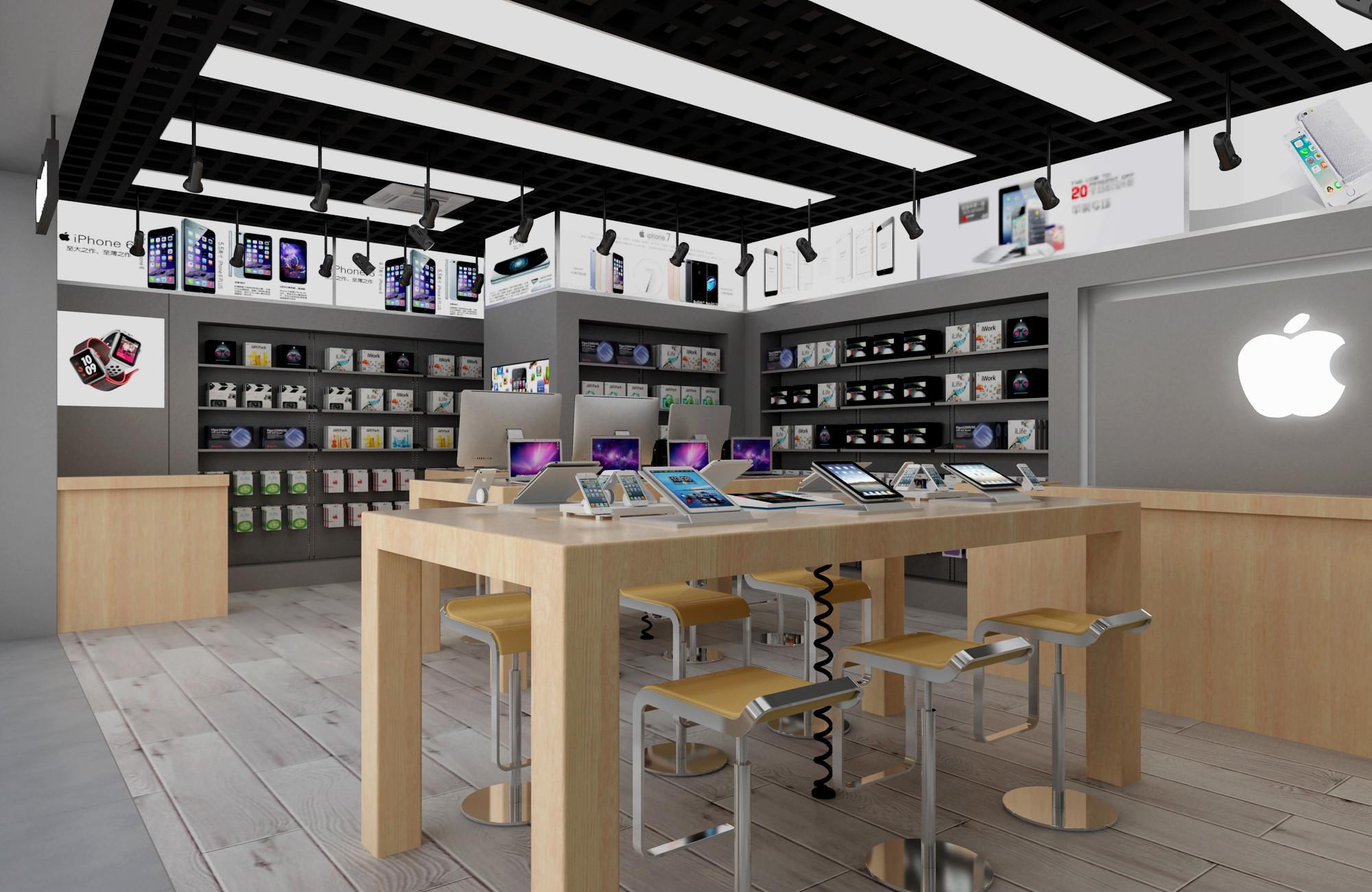 小型手机专卖店装修桌椅图片