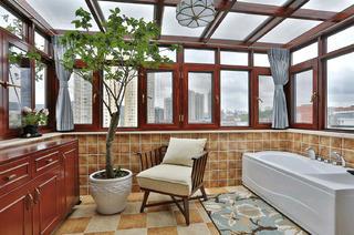 大户型美式之家卫生间设计图