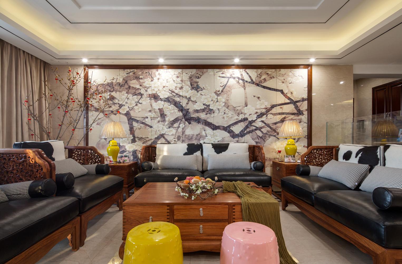 245㎡中式装修沙发图片