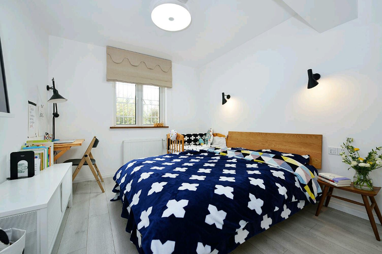 北欧二居装修床头背景墙图片