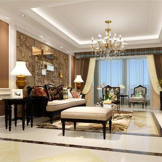 美式古典四居装修效果图
