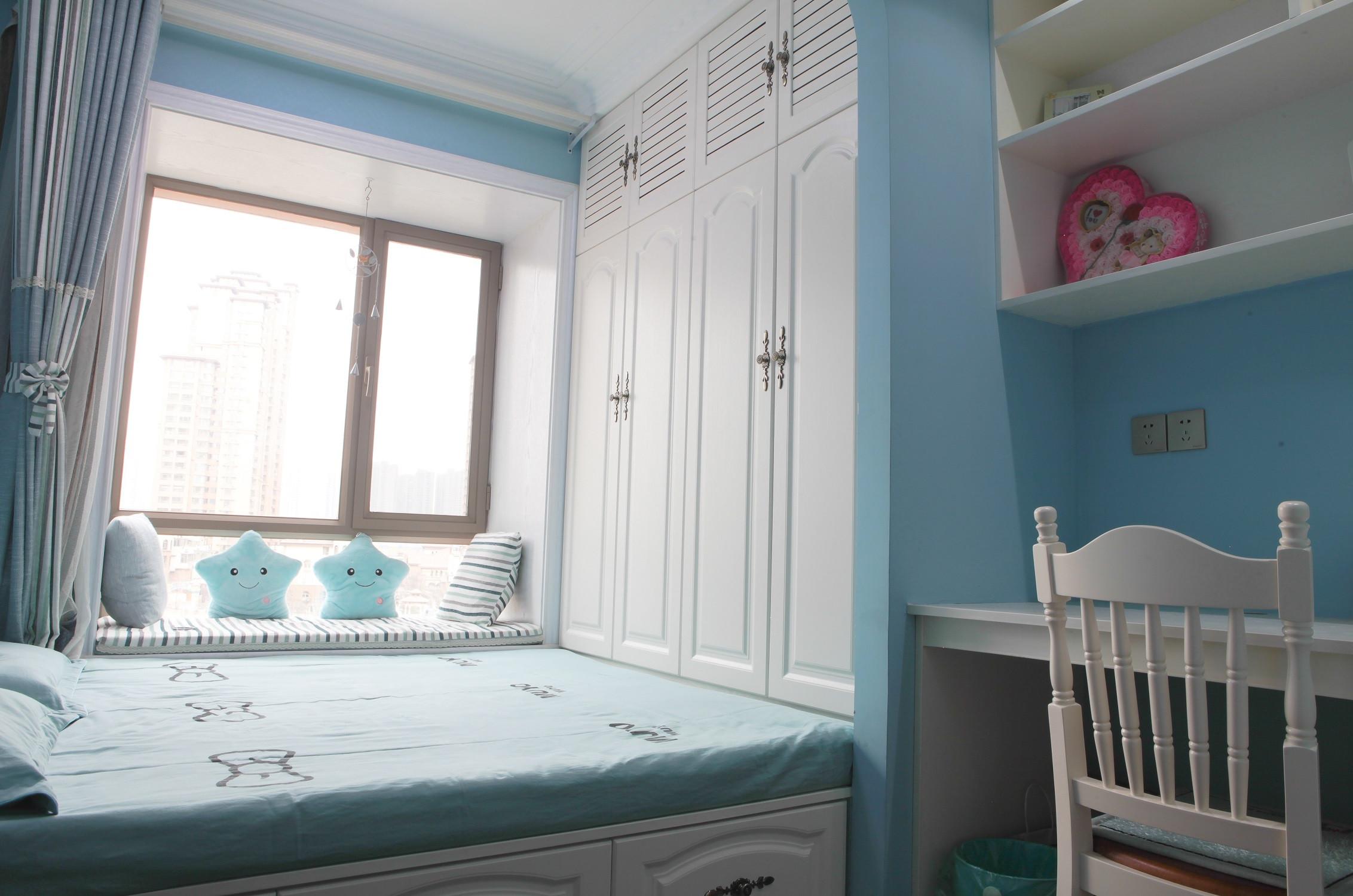 110㎡地中海风格装修卧室设计图
