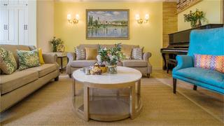四居室田园风格家沙发背景墙图片