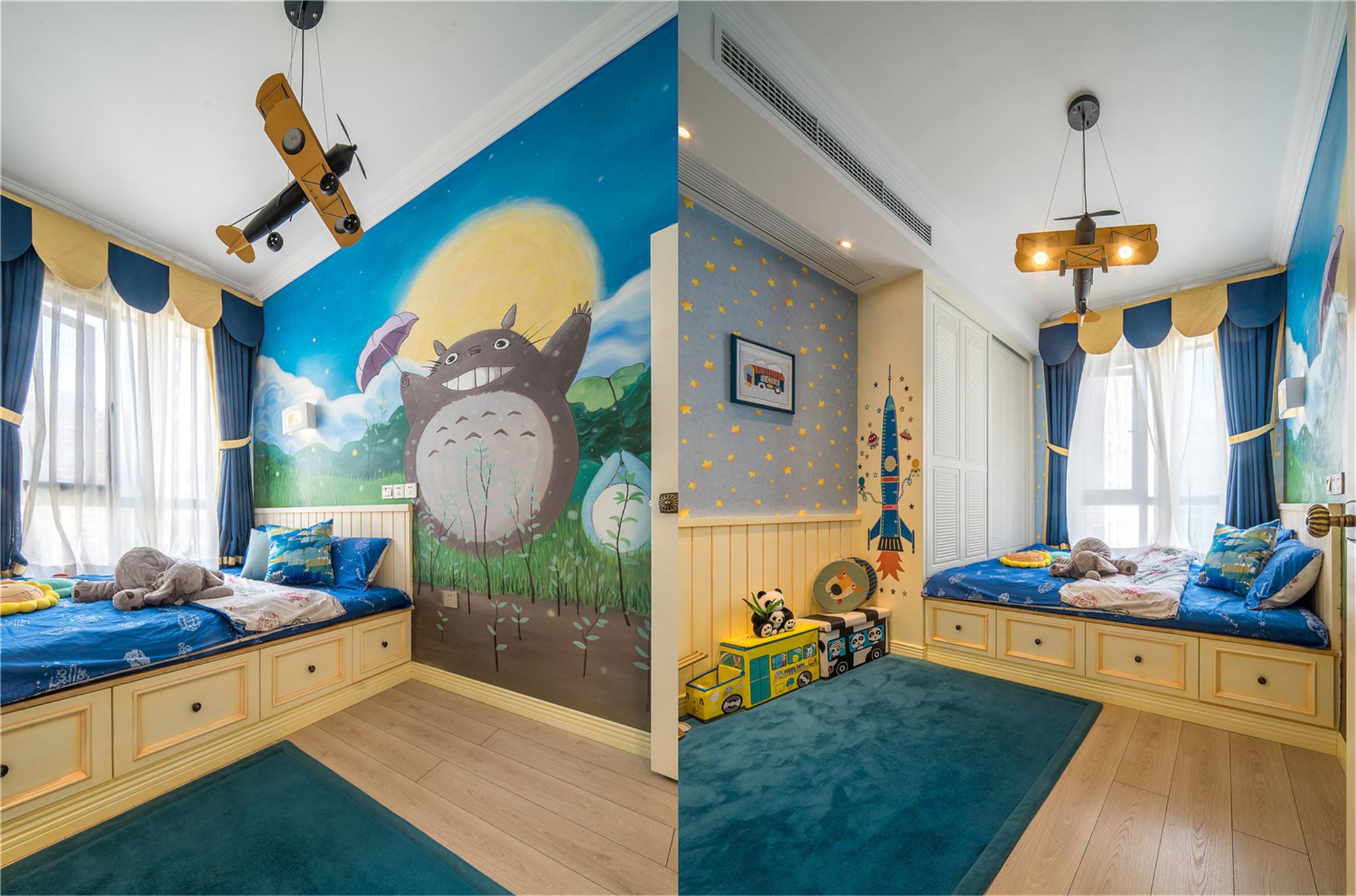 四居室田园风格家男孩房设计图