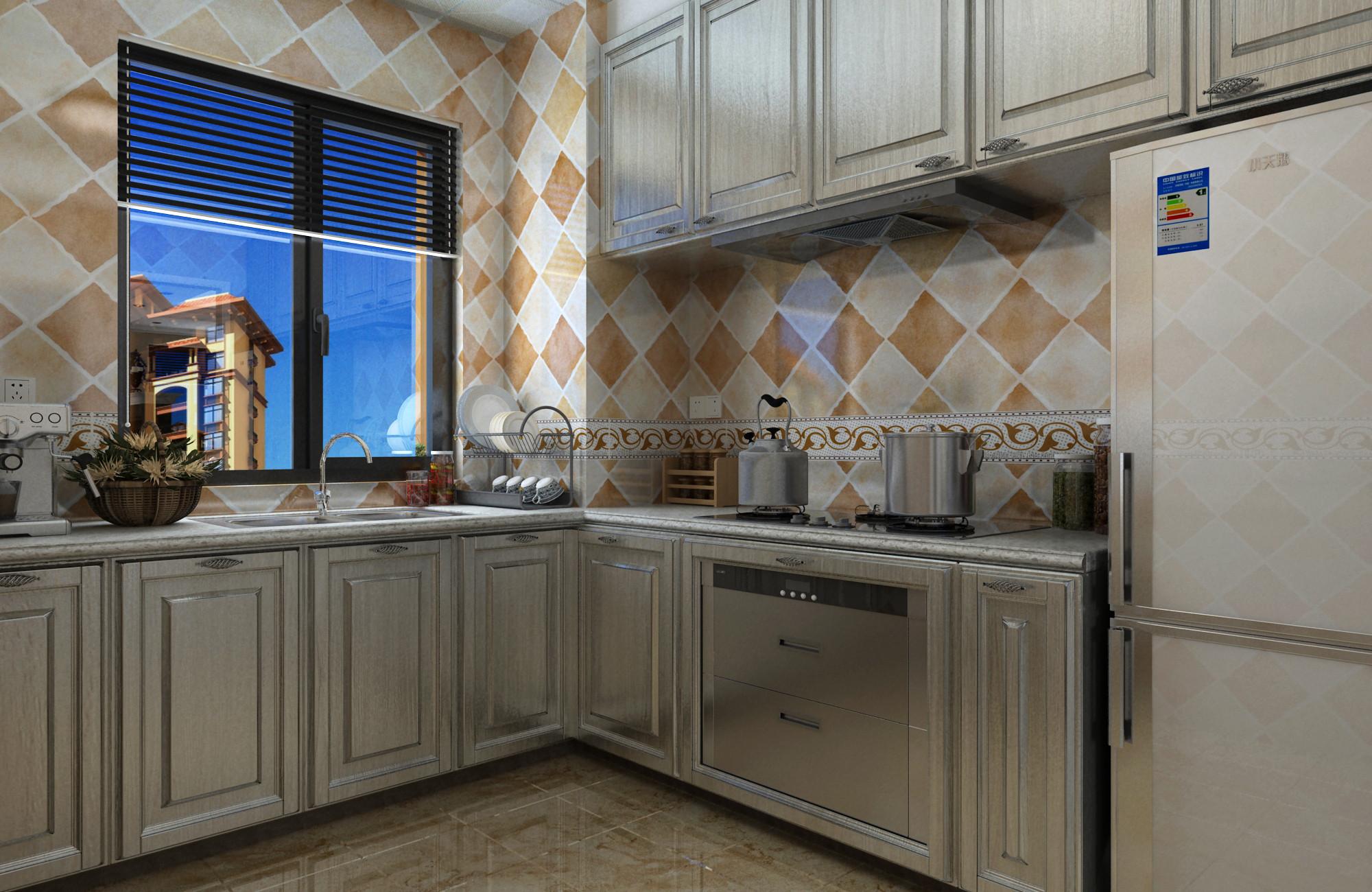 简欧三居装修厨房效果图