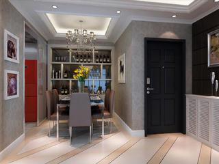 80平现代简约三居装修餐厅效果图