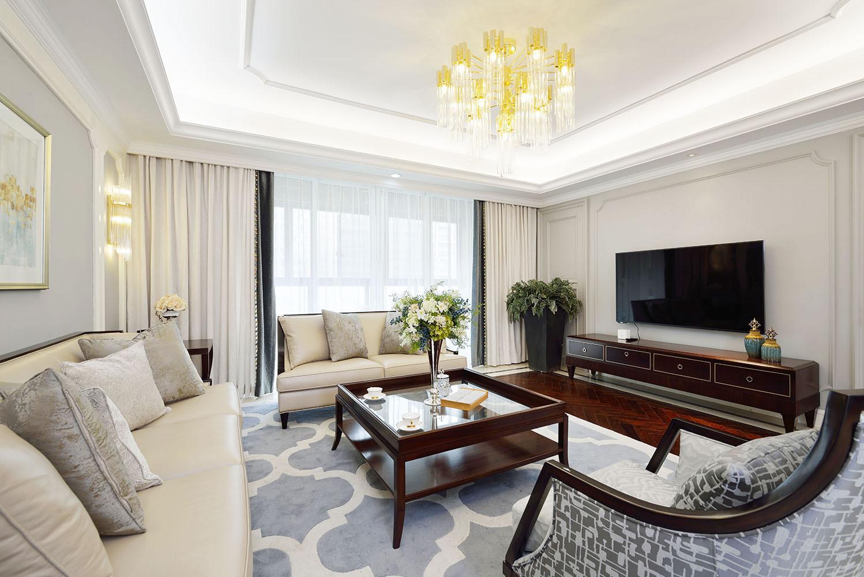 大户型美式装修客厅效果图