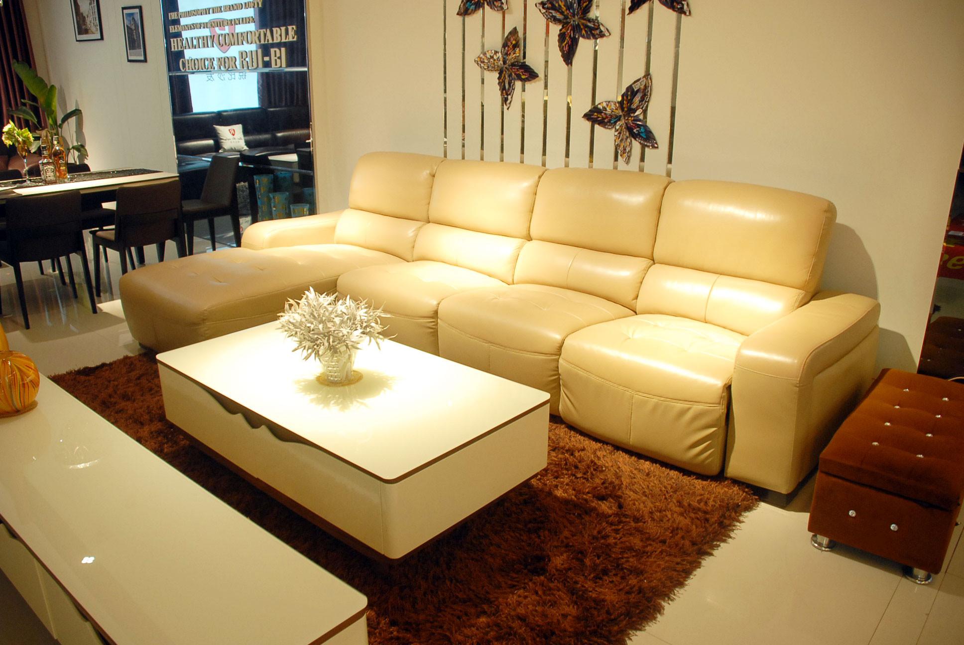 光彩夜宴家具盛惠  锐比8008真皮功能沙发