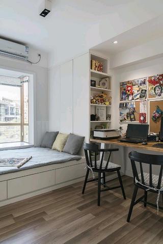 110平北欧风格装修书房设计图