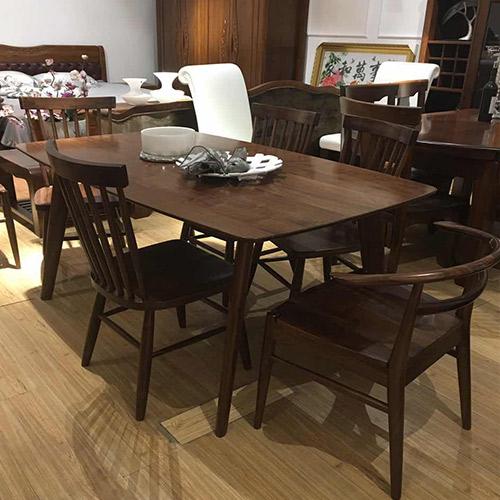 盛恺 702型黑胡桃木餐桌