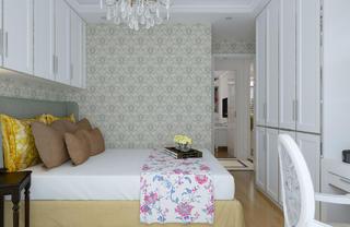 简欧二居装修客卧背景墙图片